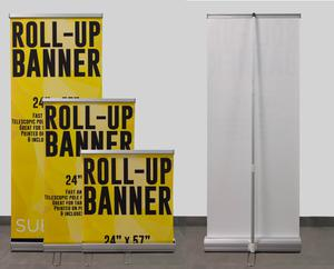 16bc130c6dc76e Banner Stands | Mini Roll-Up Banner & Stand - 22.8